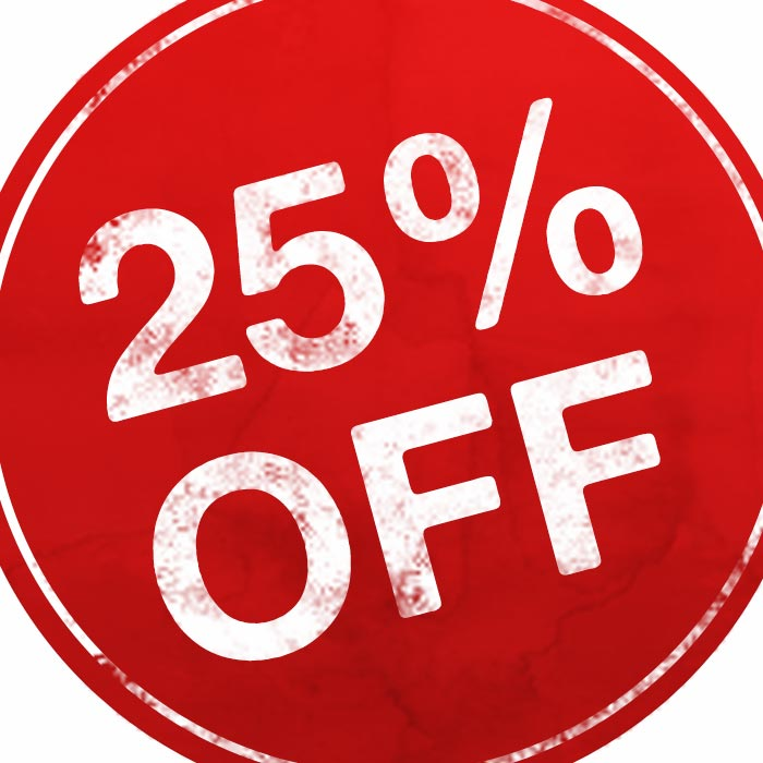 Flash Sale! 25% OFF – Today Only!