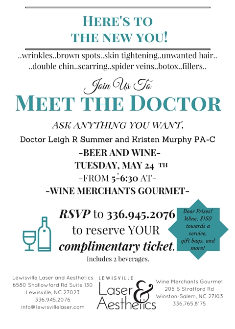 Beer and Wine Event – Meet the Doctor
