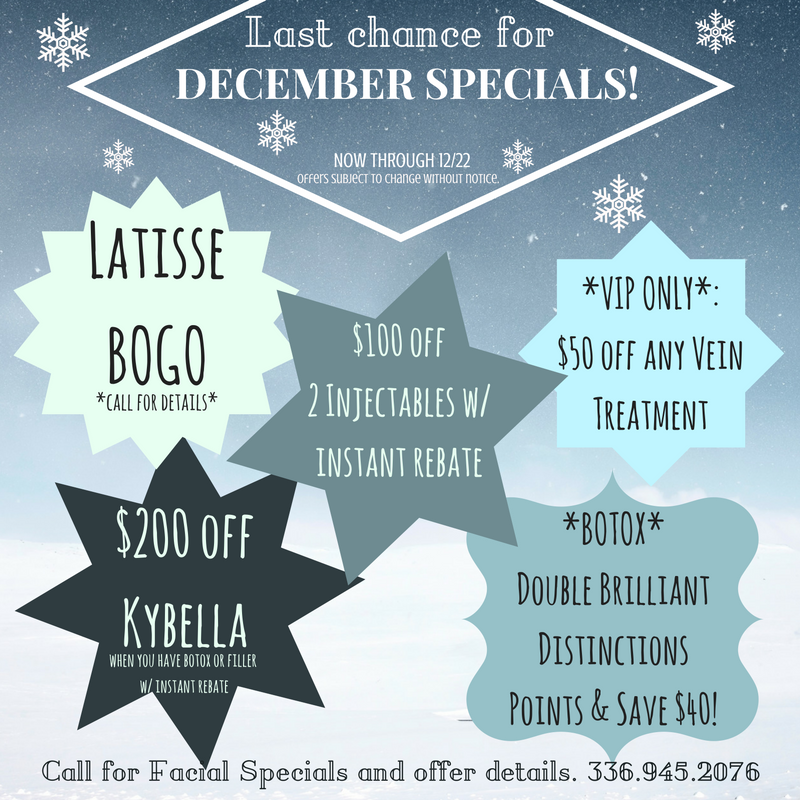 Last Chance for December Specials!!