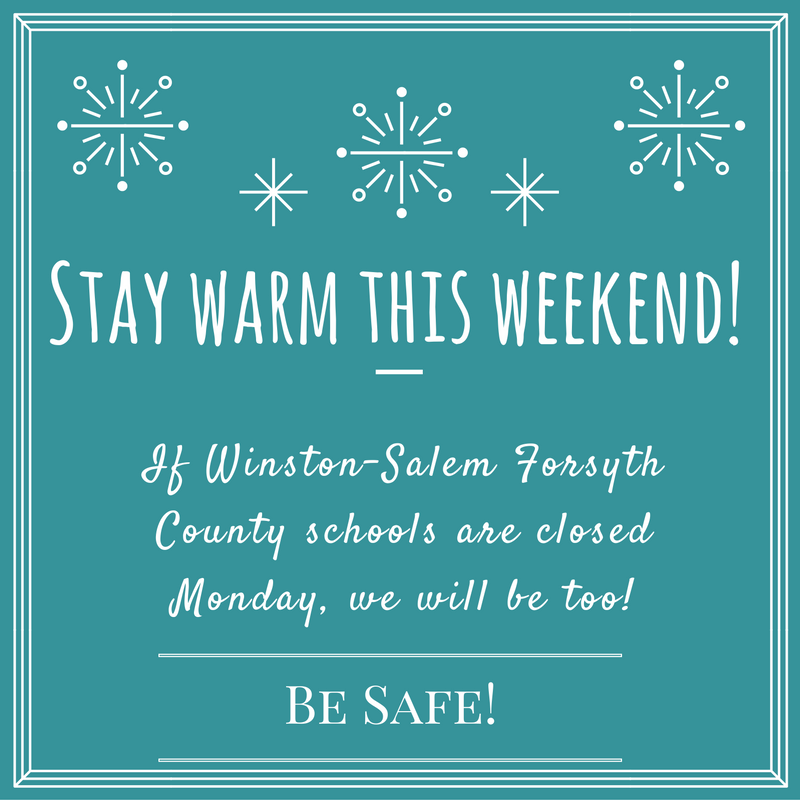 Stay Safe This Weekend! Monday hours…